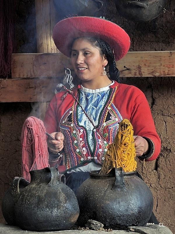 Teinture de la laine