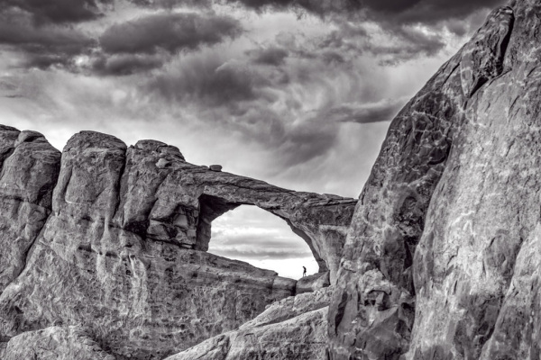 Sunset at Arches National Park - Monochrome