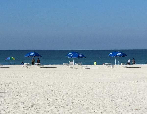 Waves on beach of Anna Maria Island, Florida