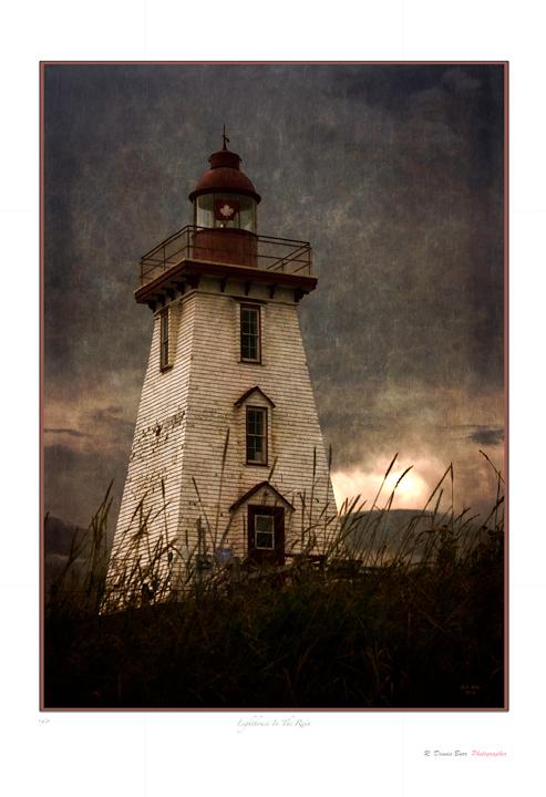 Lighthouse In The Rain