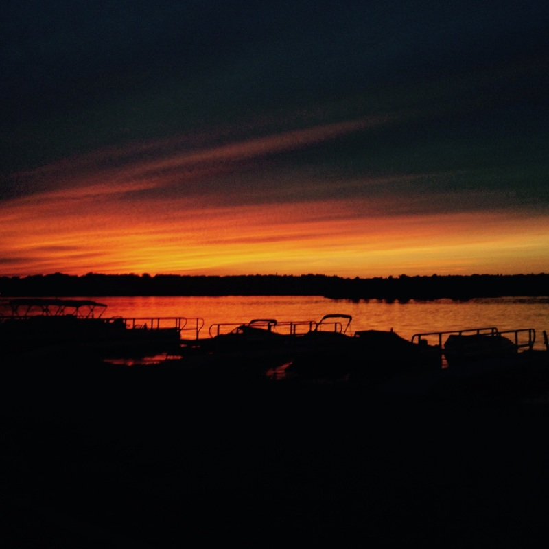 Seaway sunsets on the St. Lewerance Seaway