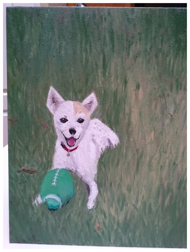 First time painting a dog