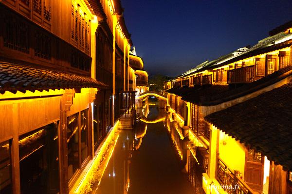 village de pêcheurs chinois heure bleue
