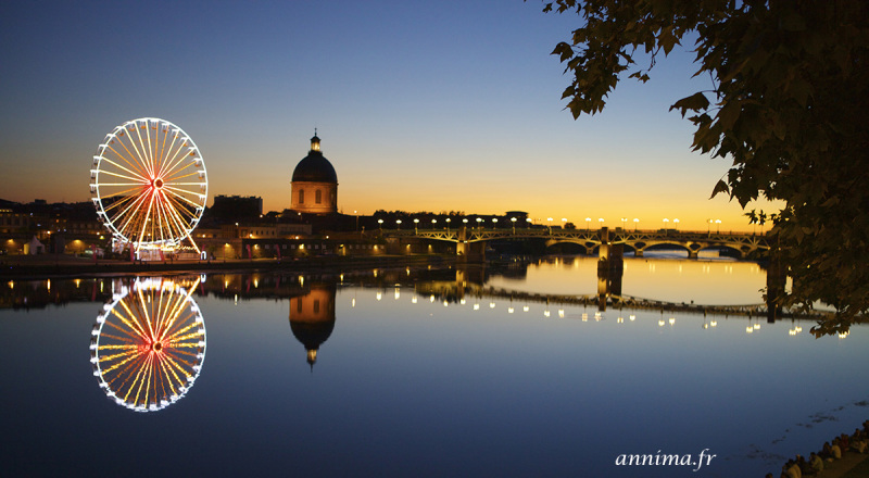 La grave, Toulouse, sunset