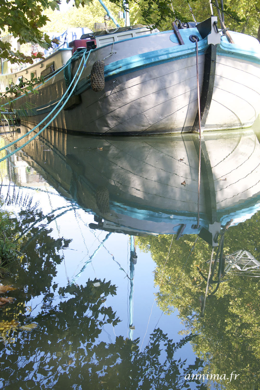 Canal du midi, reflection, boat