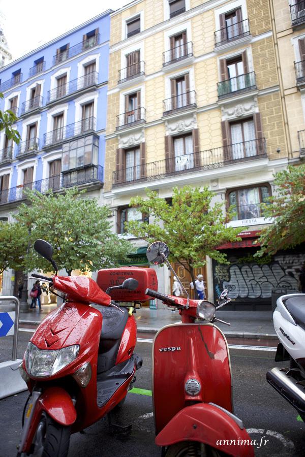 Madrid, vespa