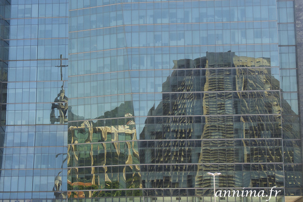 reflection, building, cathedral