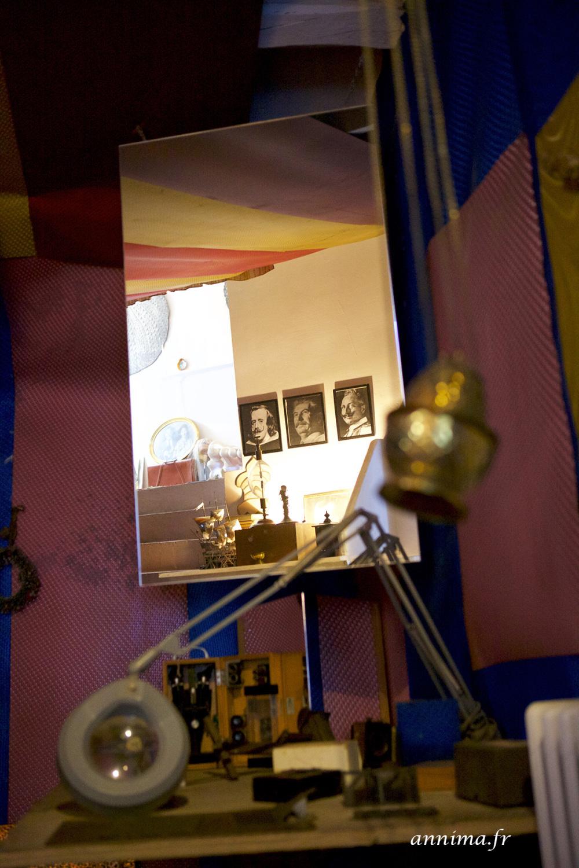Atelier, artiste, Dali, mirror