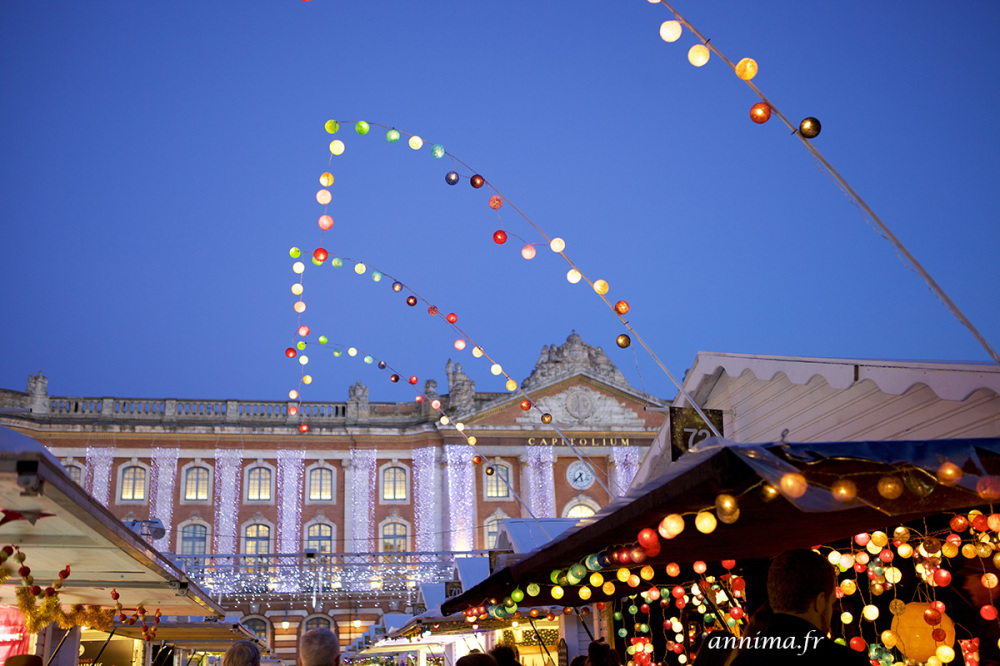 Xmas, Market, Toulouse, lights