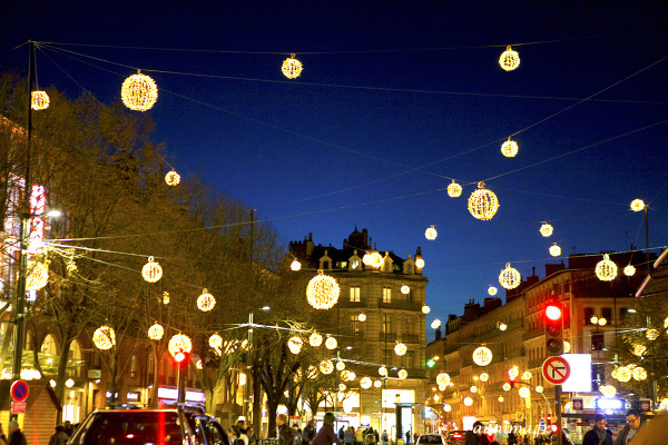 Xmas, street, Toulouse, lights