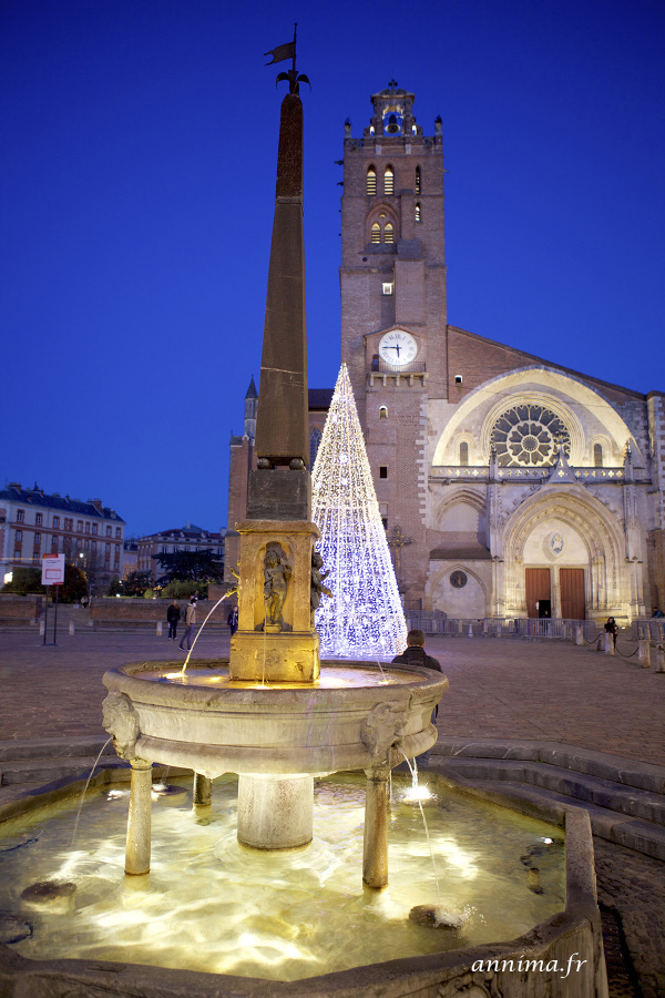 Cathedrale, St Etienne, Toulouse, xmas