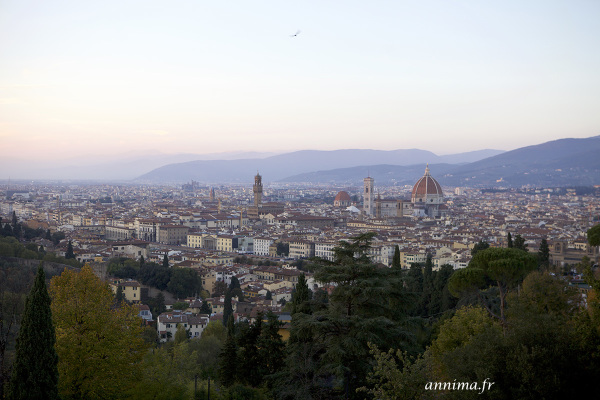 Florence, pink, sky