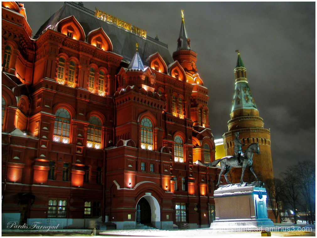 Red Square & Statue of Marshal Zhukov