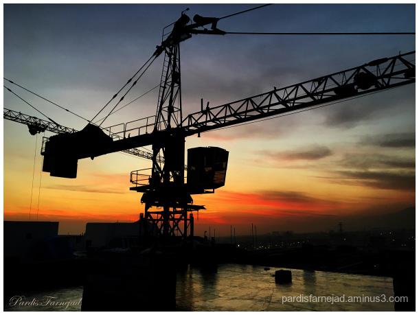 Sunset & Tower Crane
