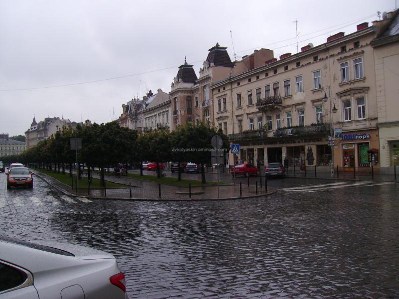 Taras  Shevchenko  Avenue  in  Lviv