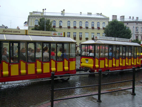 Tourist  train  in  Lviv