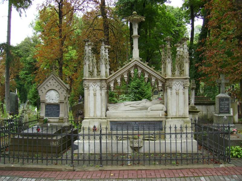 Old  burial  in  Lviv