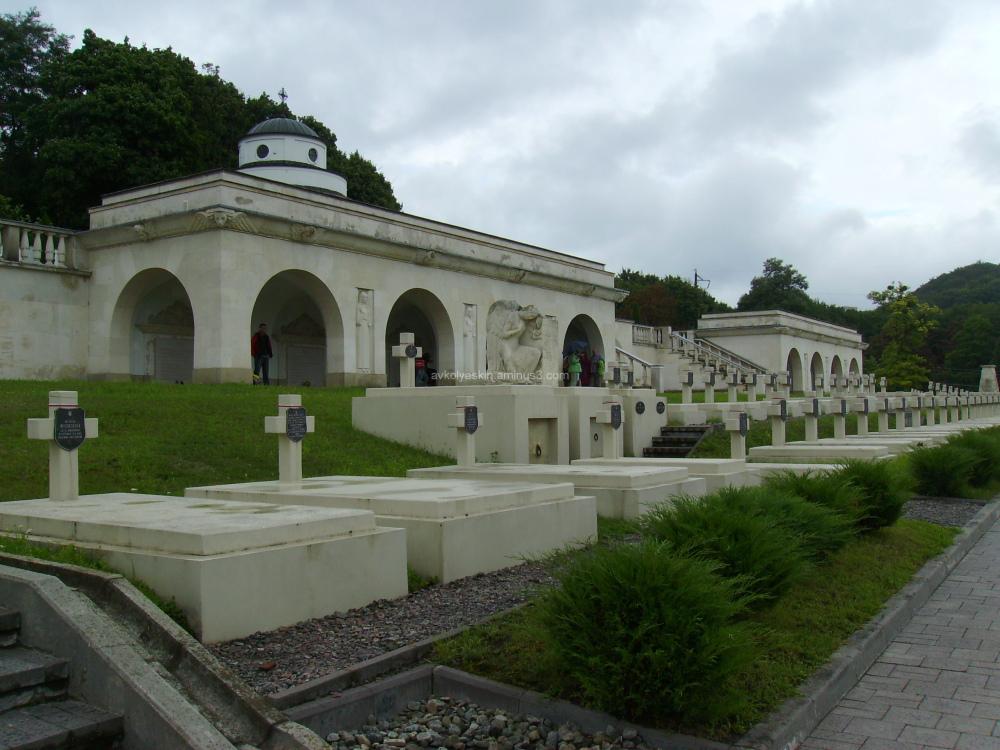 A  polish  memorial  Orlyat  in  Lviv