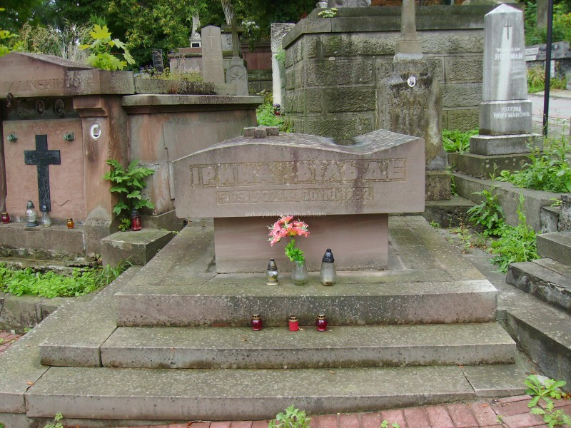 A  tomb  of  Iryna  Vilde  in  Lviv