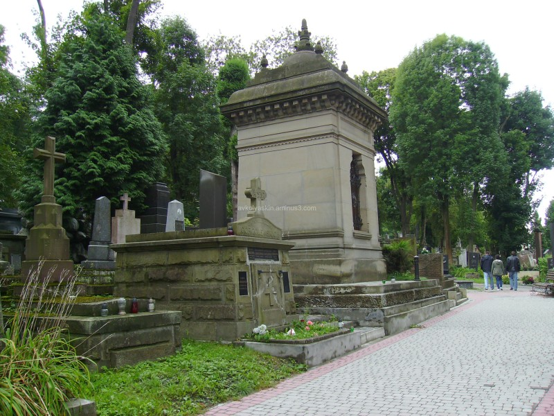 On  the  Lychakivske  cemetery  in  Lviv