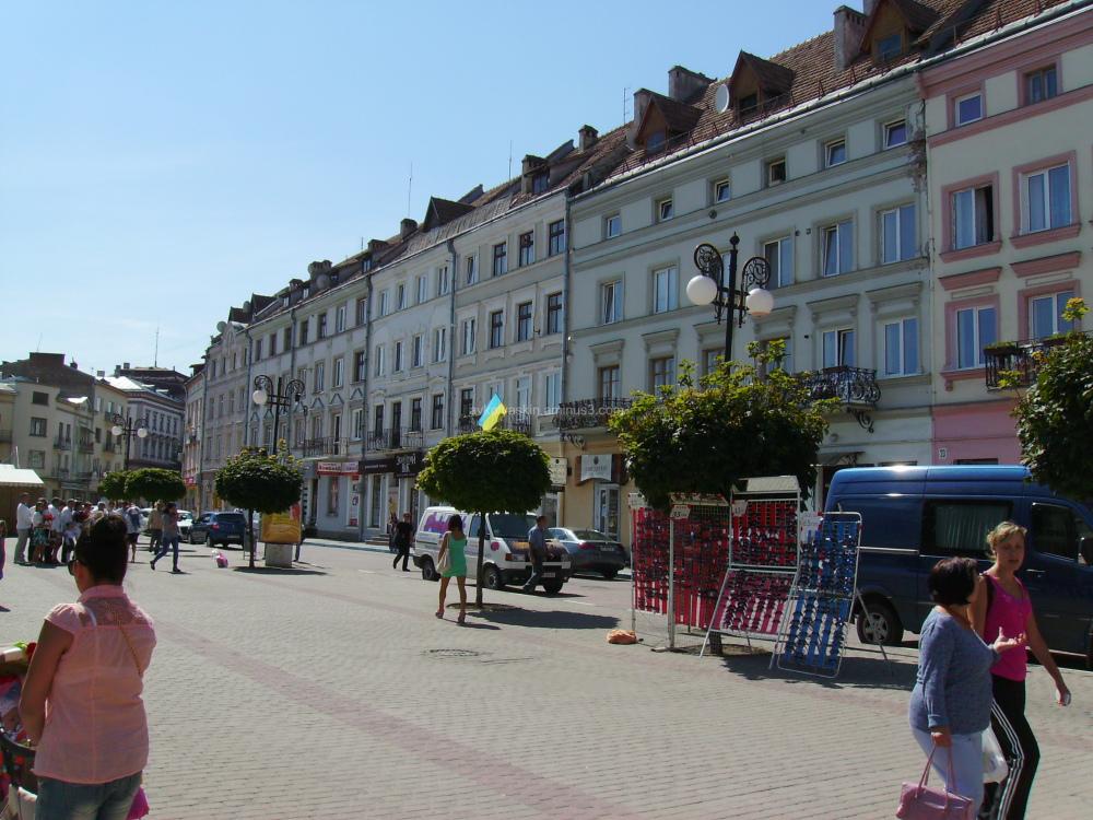 Galitska  Street  in  Ivano - Frankivsk