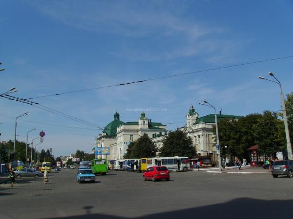 Station  Square  in  Ivano - Frankivsk