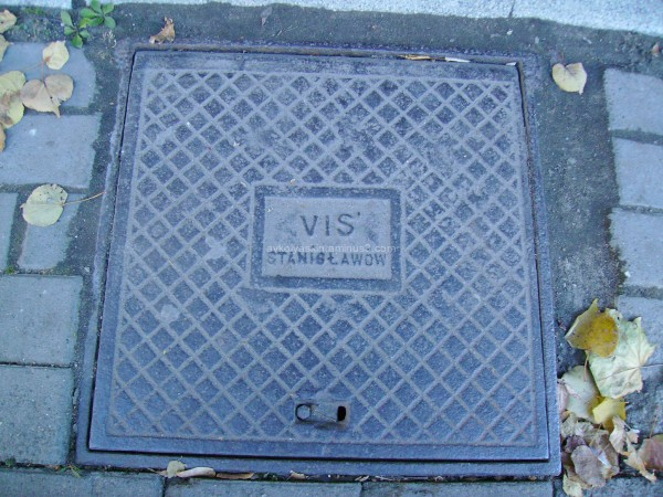 Old   sewer   hatch   in   Ivano - Frankivsk