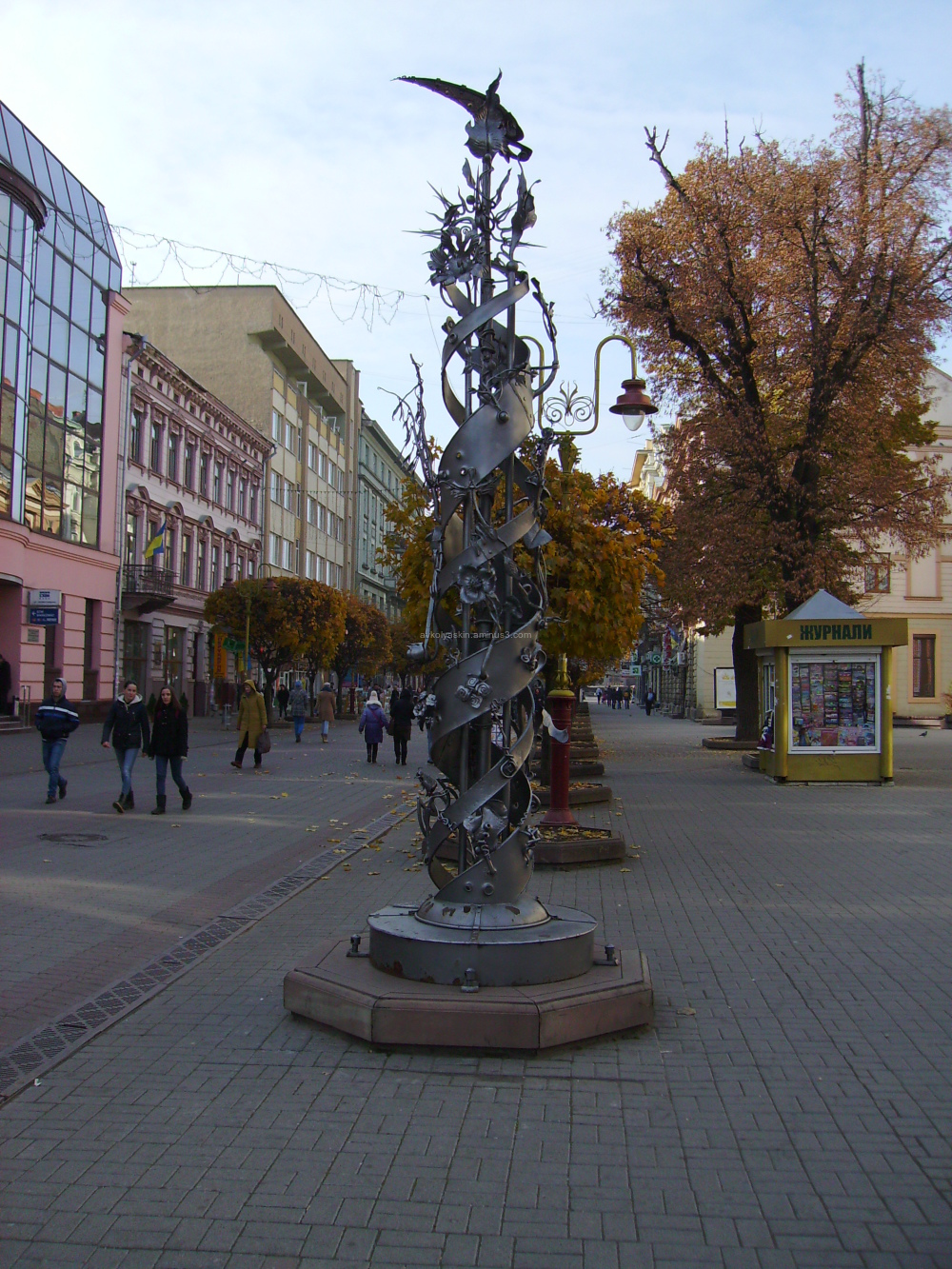 Forged   sculpture  in  Ivano - Frankivsk