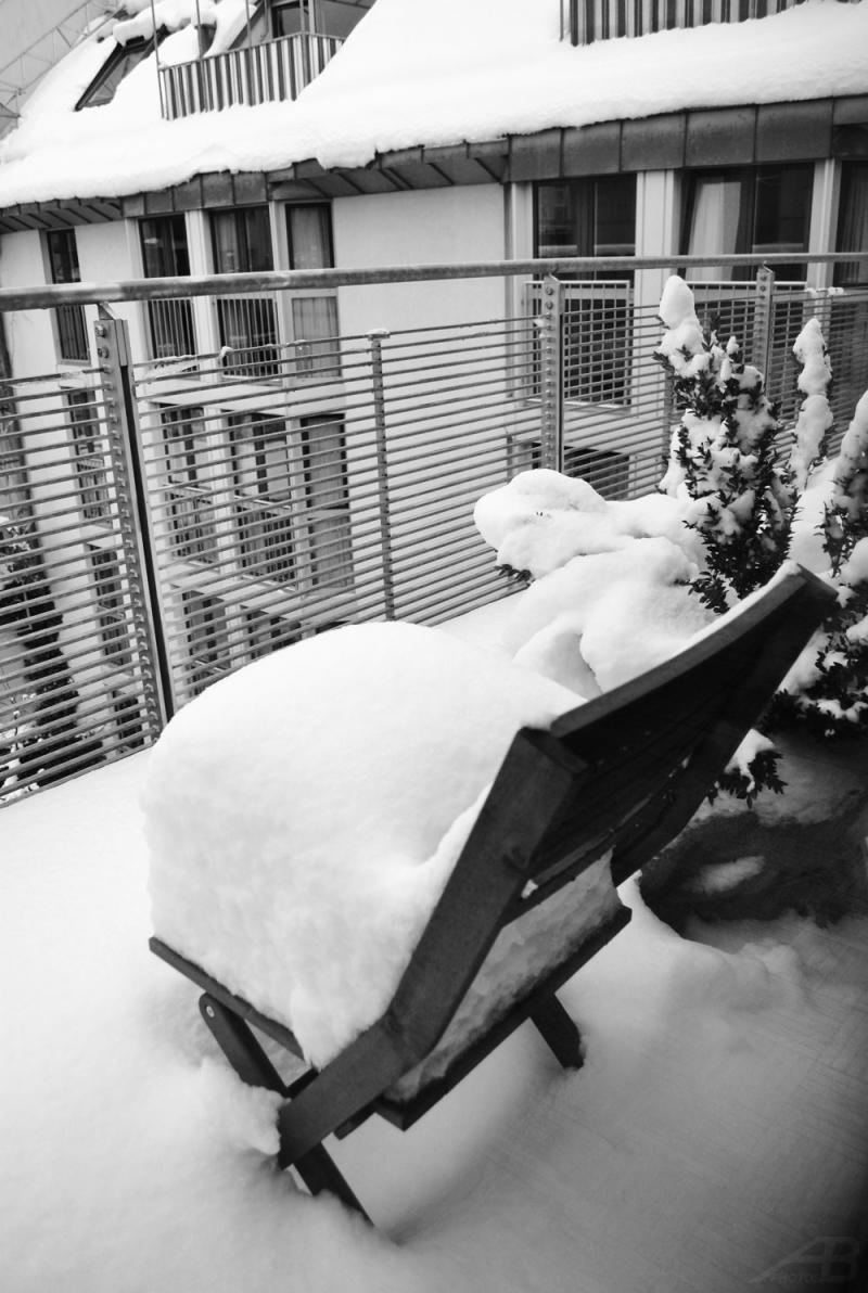 Chair in snow, Munich