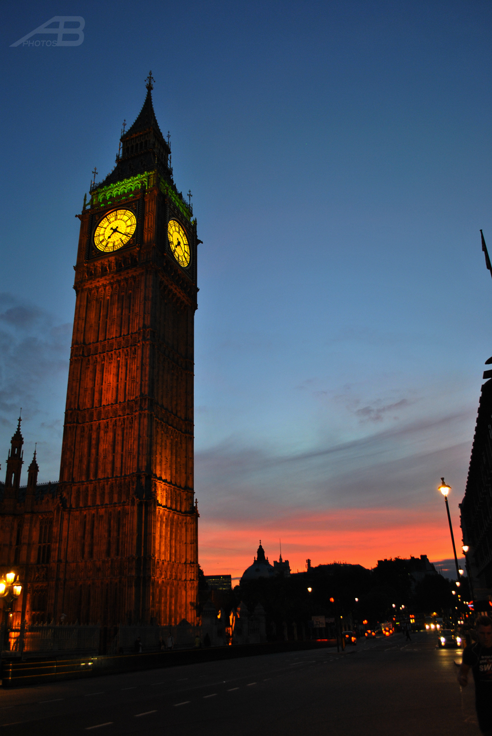 Westminster at sunset, London