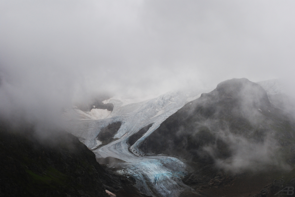 Glaciers and fog, Switzerland