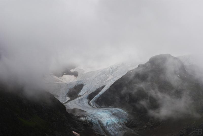 Glaciers and fog, Switzerland