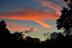 Sky at sunset, London