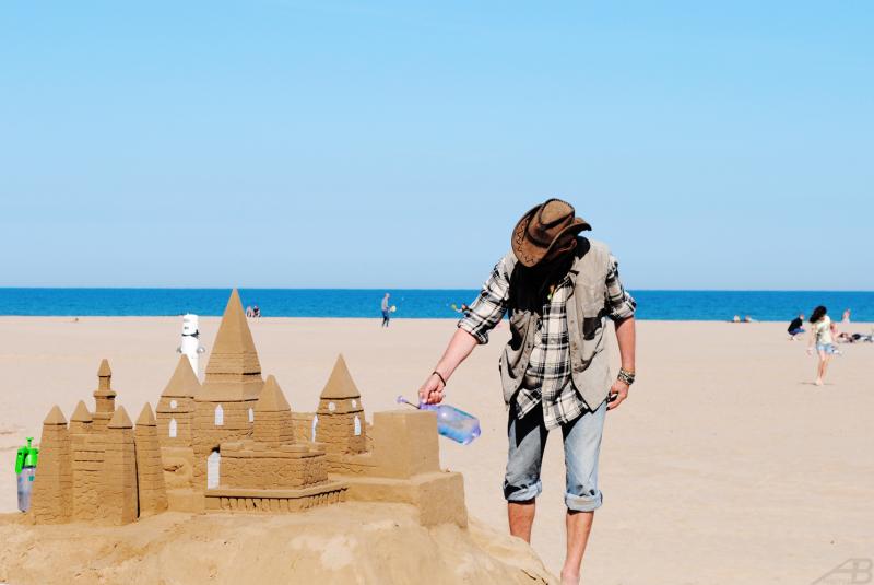 Sand castle, Spain