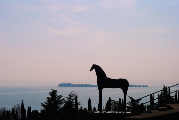 Horse statue, Vittoriale degli Italiani, Italy