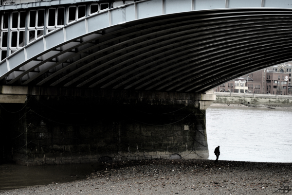 Man under the Bridge, London