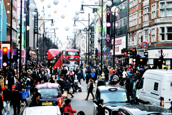 Boxing Day, Oxford Street, London