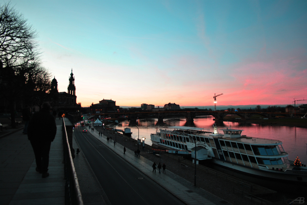 Dresden at sunset