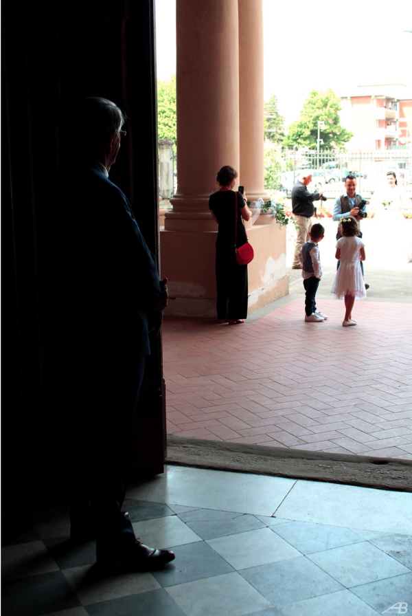 Father waiting for the bride