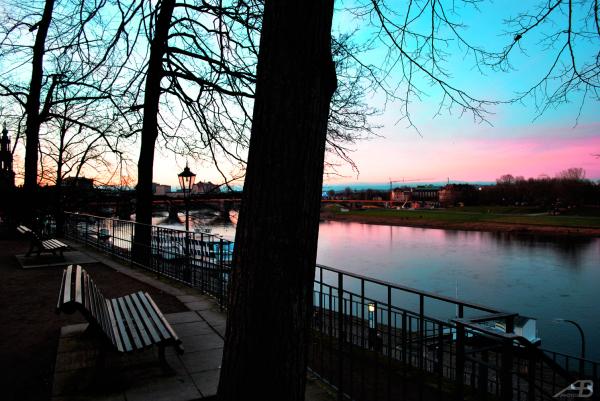 Dresden at sunset