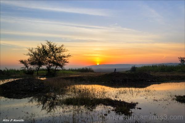 Colour pallet at sunrise