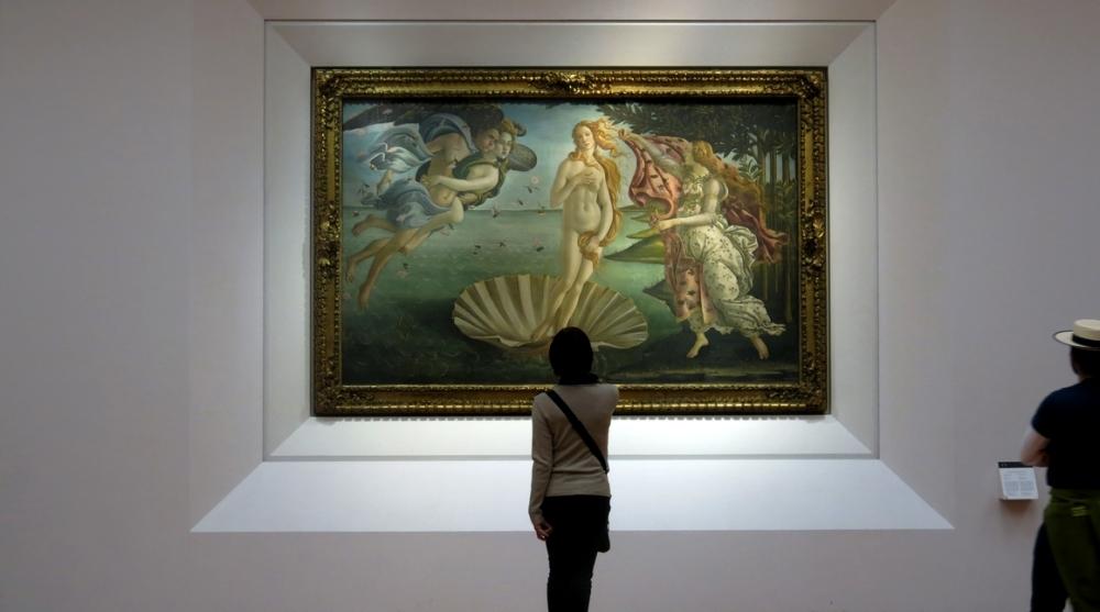 La nascita di Venere, a Firenze.