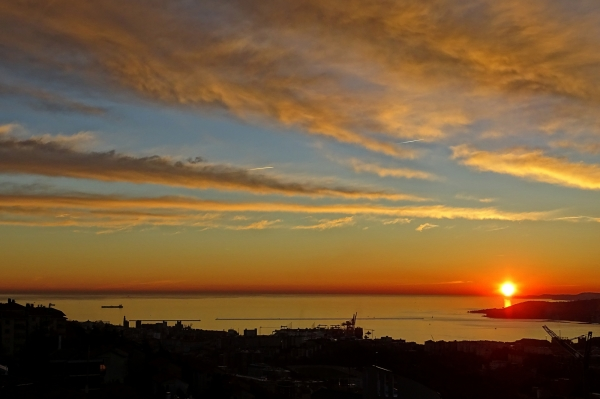 Typical Sunset in Trieste