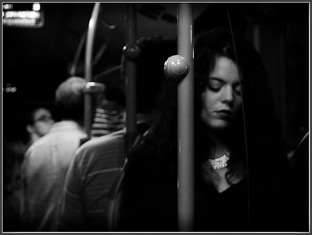 by bus