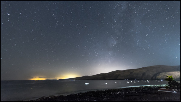 Night at Lanzarote, playa quemada
