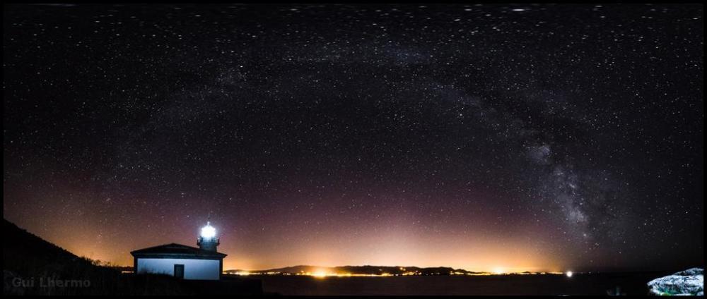 Milky way arc over Muros, Galicia