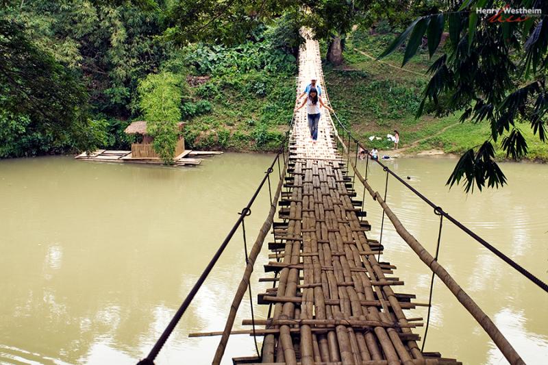 Philippines, Bohol, Tigbao Hanging Bridge