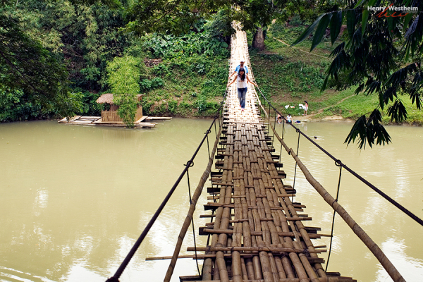 Philippines, Bohol, Tigbao Hanging Bridge