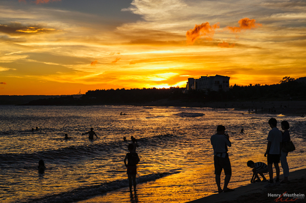 Golden sunset in Kenting, Taiwan