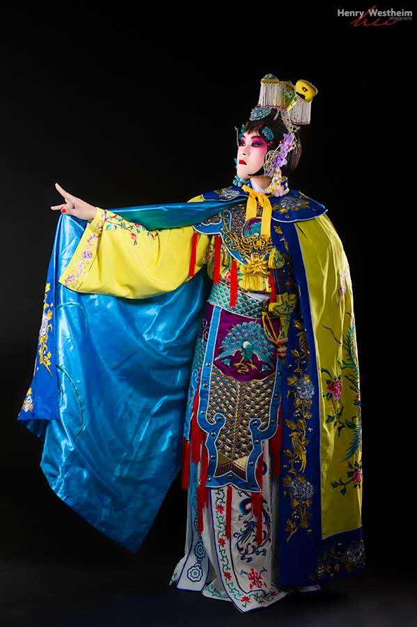 Young Chinese woman in Beijing Opera costume